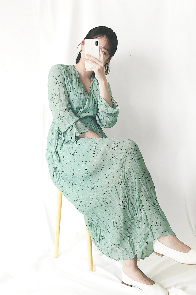 Mint Dotted Maxi