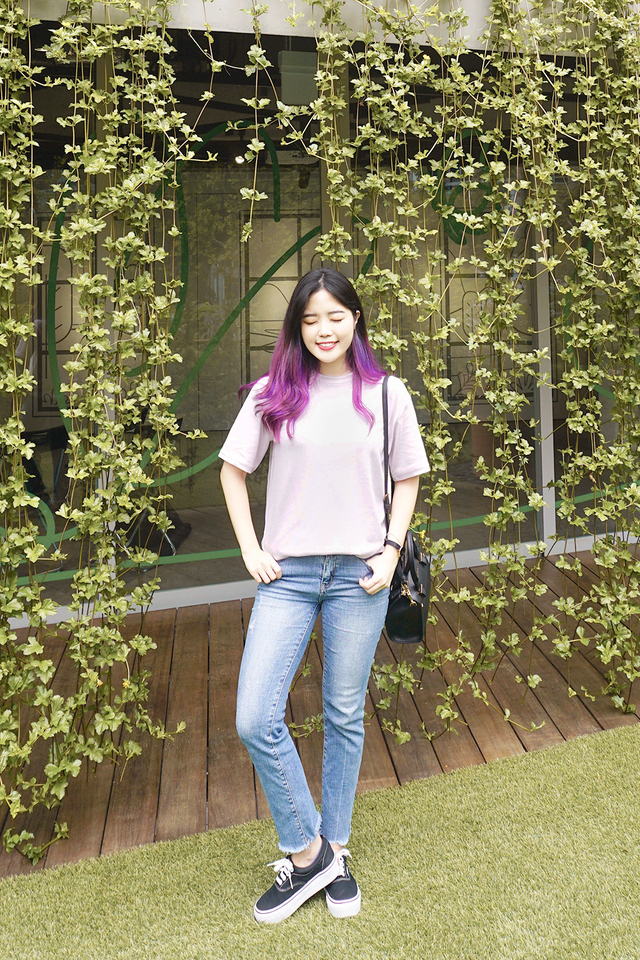 Lavender Over-Sized Basic T-Shirt