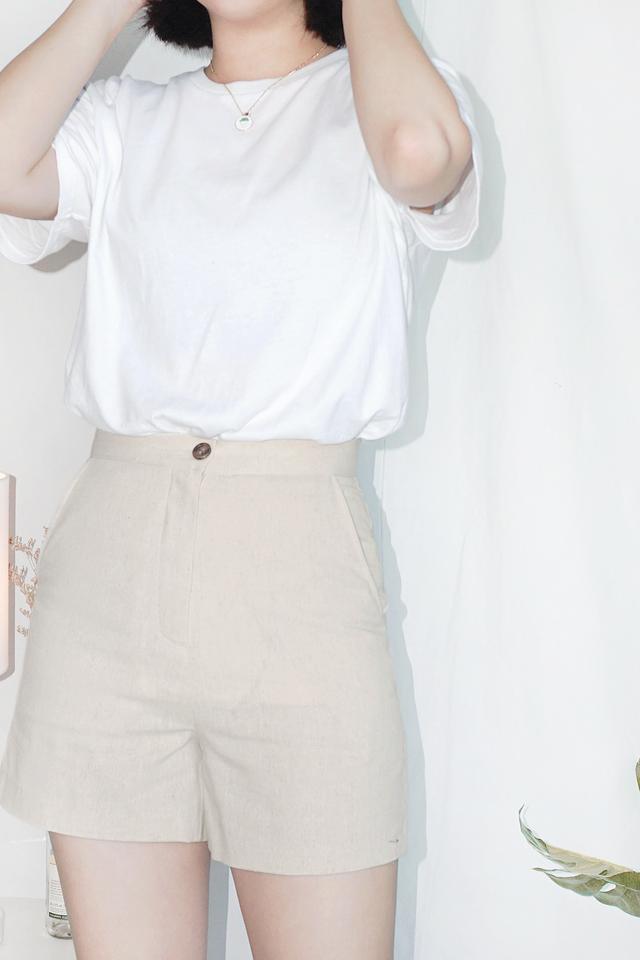 Oatmeal Linen Shorts