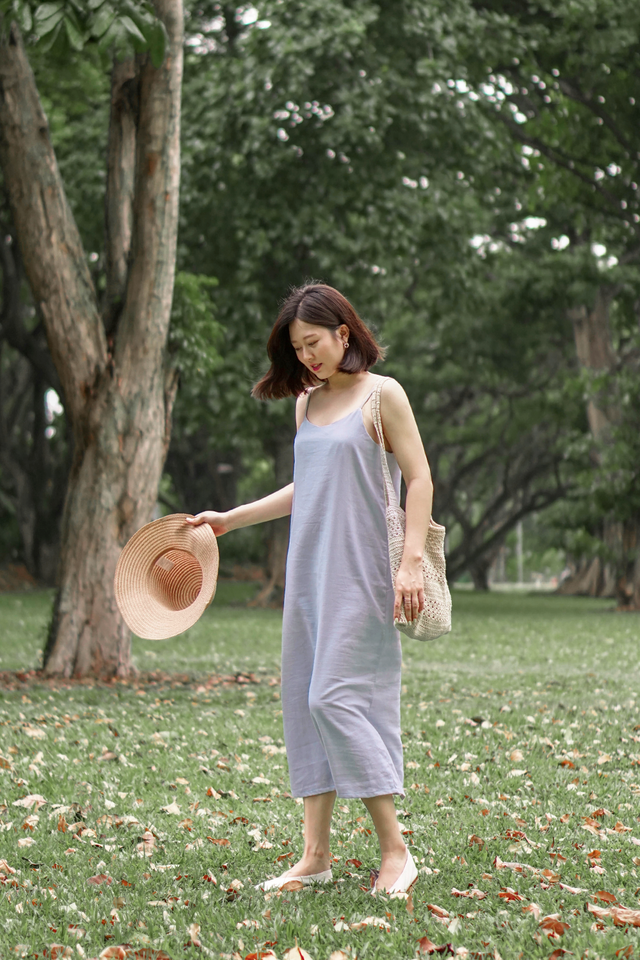 Periwinkle Slip Maxi Dress