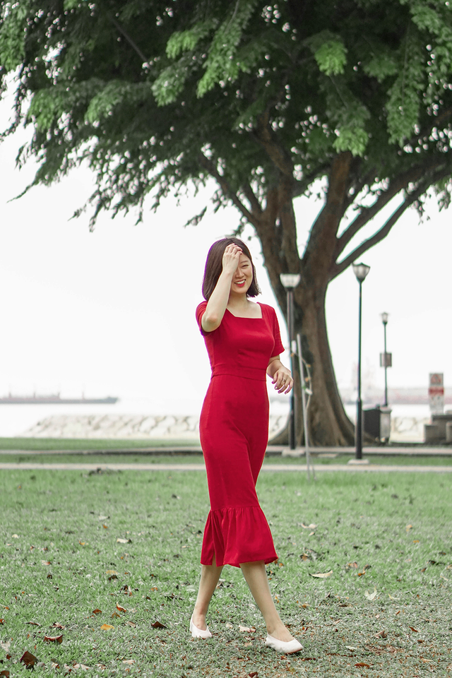 Deep Red Mermaid Dress